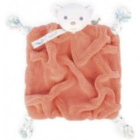 Accueil Kaloo Doudou Kaloo Ours orange corail plat - Plume