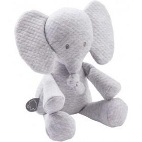 Accueil Nattou Doudou Nattou Elephant Gris Jacquard Pantin - Tembo