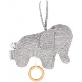 Accueil Nattou Doudou Nattou Elephant Gris Tricot Musical - Tembo