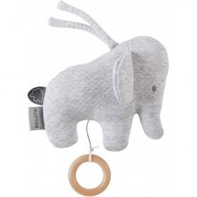Accueil Nattou Doudou Nattou Elephant Gris Jacquard 22 cm Musical - Tembo