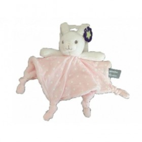 Accueil Orchestra Doudou Orchestra Lapin Rose et Blanc Luminescent Plat -
