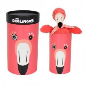 Accueil Deglingos Doudou Deglingos Flamant Rose 33 cm pantin - Flamingos