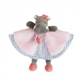 Accueil Babynat Doudou Babynat Hippopotame Rose Plat - Zoé
