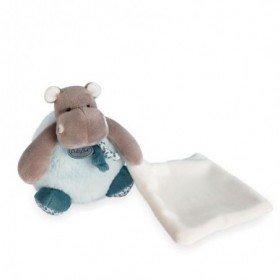 Accueil Babynat Doudou Babynat Hippopotame Bleu Pantin - Bazile