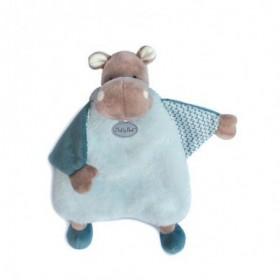 Accueil Babynat Doudou Babynat Hippopotame Bleu Plat - Bazile