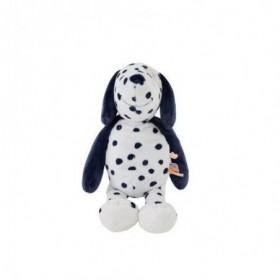 Accueil Noukies Doudou Noukies Chien Blanc Pois Bleu Taille M Pantin - Aston & Jack