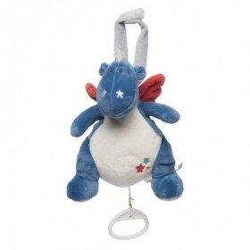 Accueil Noukies Doudou Noukies Dragon Bleu Musical - Victor