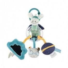Accueil Noukies Doudou Noukies Ane Bleu Trousseau Activité - Super - heros