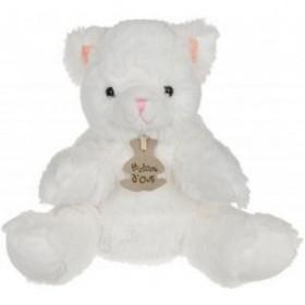 Accueil Histoire d'ours Doudou Histoire d'ours chat Blanc marionnette - Mario