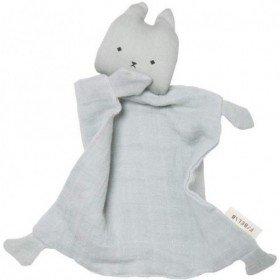 Accueil Fabelab Doudou Fabelab chat Bleu Plat - Animal Cuddle