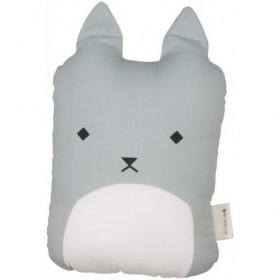 Accueil Fabelab Doudou Fabelab Chat Bleu coussin pantin - Animal Cushion