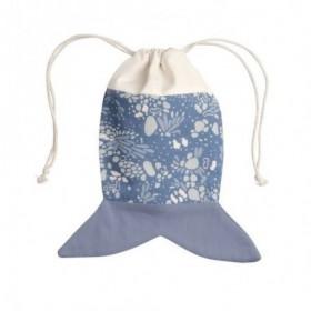 Accueil Fabelab Doudou Fabelab Poisson Bleu sac Marina  - Fish Pouch