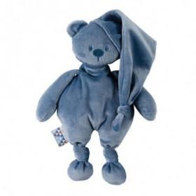 Accueil Nattou Doudou Nattou Ours Bleu 100 %recyclé Pantin - 27 x 36 x 5 cm Lapidou
