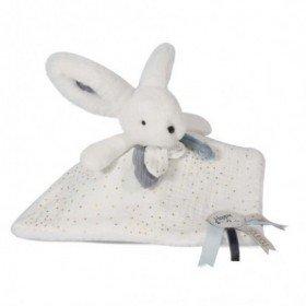 Accueil Doudou et Compagnie Doudou et compagnie Lapin Blanc Glossy Plat - 25 cm Happy