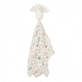 Accueil Camcam Doudou camcam Paon Rose Plat - 50 x 50 cm Leaves Rose