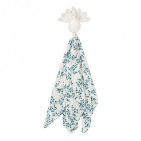 Accueil Camcam Doudou Camcam Paon Bleu Plat - 50 x 50 cm Fiori