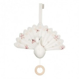 Accueil Camcam Doudou Camcam Paon Blanc Musical - 18 x 24 cm Windflower