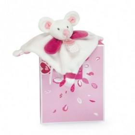 Accueil Doudou et Compagnie Doudou doudou et compagnie souris rose Plat - 20 cm Meli melo