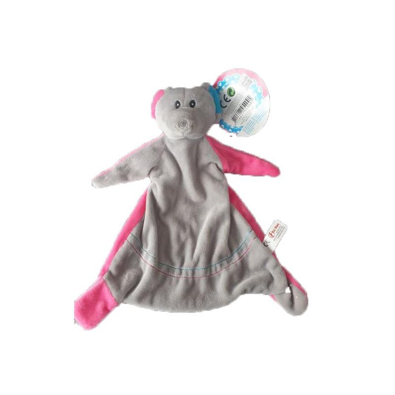 Accueil Z'autres marques Doudou Toi Toys Souris Gris Rose Plat - 25 cm Action