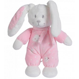 Accueil Nicotoy Doudou Nicotoy lapin Rose Boone Glow luminescent