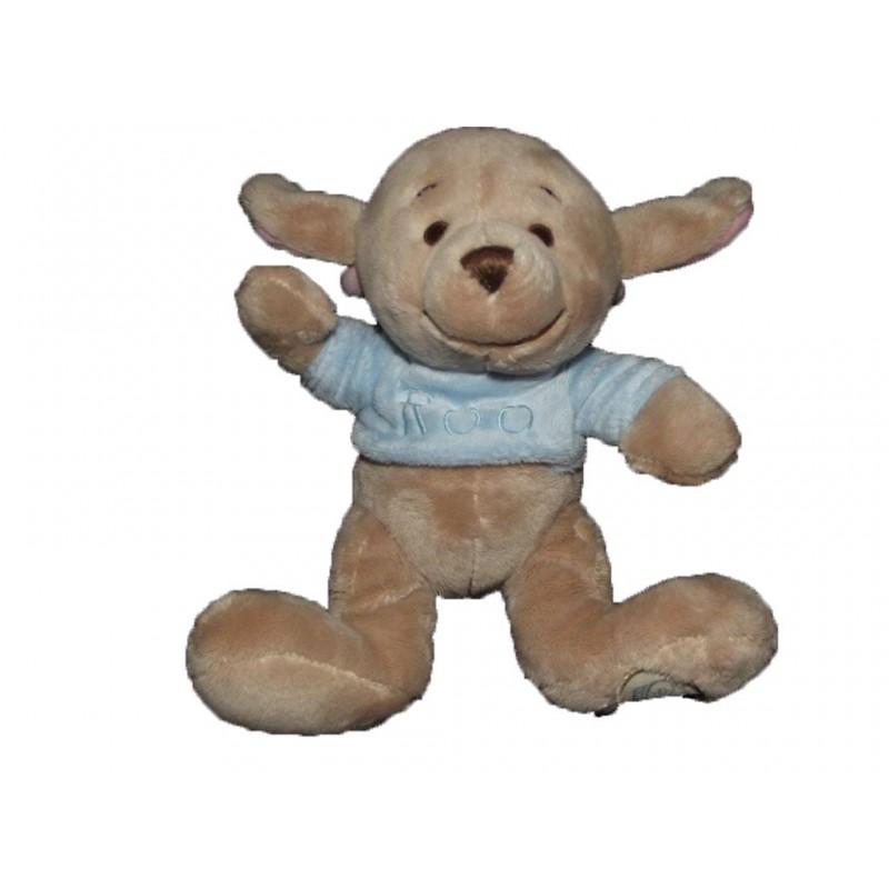 Accueil Disney doudou Disney Kangourou Marron pull bleu bebe roo Les Amis de Winnie Pantin