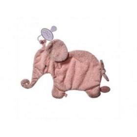 Accueil Dimpel doudou Dimpel Elephant Rose Pale Oscar Attache Tetine