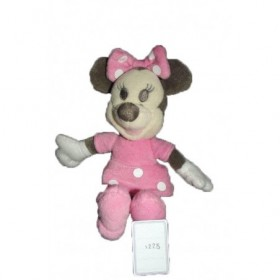 Doudou Disney Souris Minnie Pantin avec doudou Rose Floral