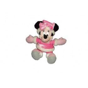 Accueil Disney doudou Disney Personnage Rose disneyland robe et bonnet flocon de neige Minnie Pantin