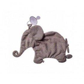 Accueil Dimpel doudou Dimpel Elephant Gris clair Oscar Attache Tetine