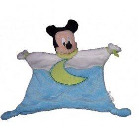Accueil Disney doudou Disney Personnage Bleu blanc lune vert et bebe ours Mickey Plat