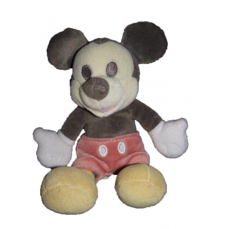 Accueil Disney doudou Disney Personnage Noir short rose 15cms Mickey Pantin