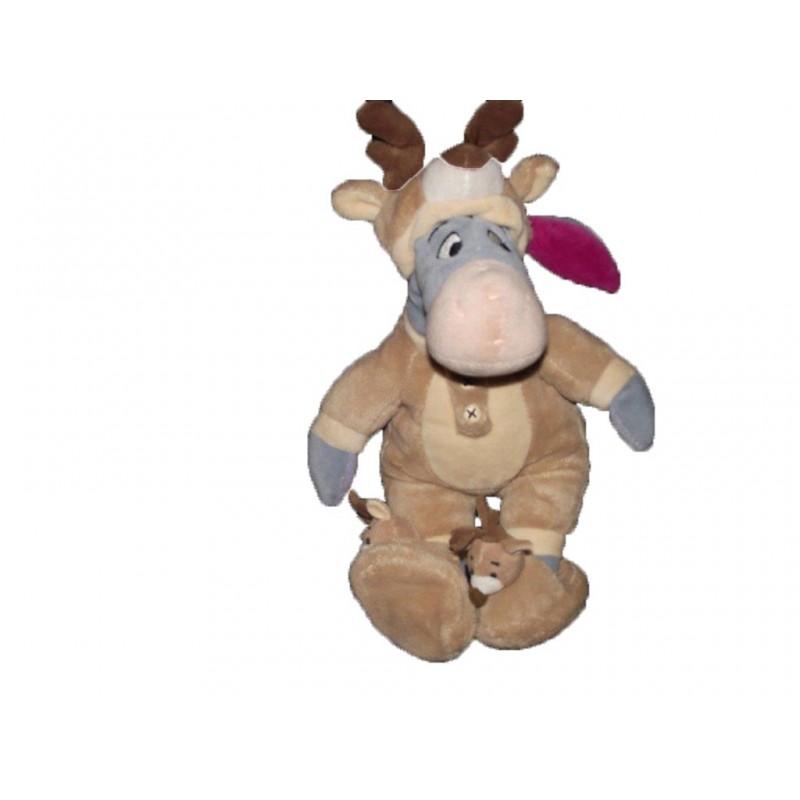Accueil Disney doudou Disney Personnage Marron Bourriquet deguise cerf elan marron 25cms Les Amis de Winnie Pantin