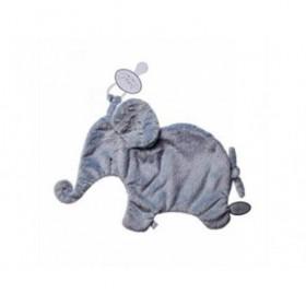 Accueil Dimpel doudou Dimpel Elephant Bleu Gris Oscar Attache Tetine