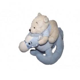 Accueil Disney doudou Disney Personnage Bleu sur cheval a bascule Winnie l'ourson Pantin