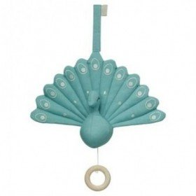 Accueil Camcam doudou CamCam Paon Bleu Turquoise Peacock Musical