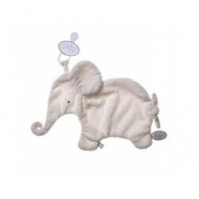 Accueil Dimpel doudou Dimpel Elephant Blanc Oscar Attache Tetine