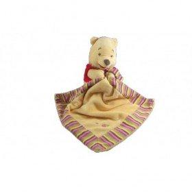 Accueil Disney doudou Disney Personnage Jaune veste rouge mouchoir rayee Winnie l'ourson Pantin