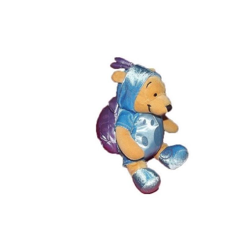 Accueil Disney doudou Disney Personnage Bleu deguisé en escargot violet 20cms Winnie l'ourson Pantin