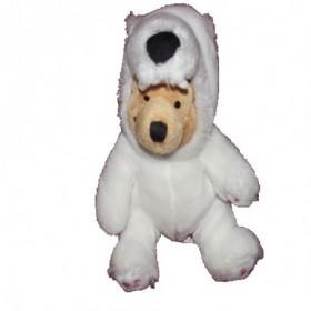 Accueil Disney doudou Disney Personnage Blanc deguise en ours polaire blanc 17cms Winnie l'ourson Pantin