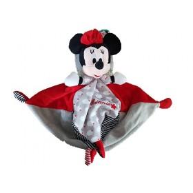 Accueil Disney doudou Disney Nuage Rouge 4 nœuds rayure Minnie Plat