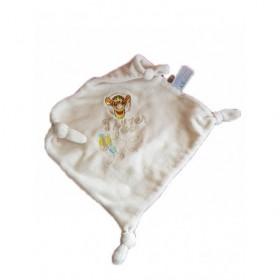 Accueil Disney doudou Disney Mouchoir Beige Tigrou Tigger plat carre beige 4 nœuds Les Amis de Winnie Plat