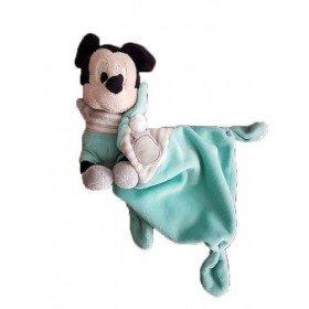 Accueil Disney doudou Disney Souris Bleu Doudou Mouchoir Gris Mickey Plat