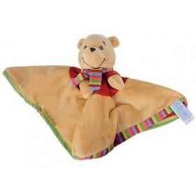 Accueil Disney doudou Disney Ours Jaune Winnie l'ourson plat jaune dos rayee rayure Winnie L'ourson Plat